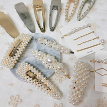 Korean Ins pearl hairpin adult hair clips wordclip Bang clip for girl KL6601