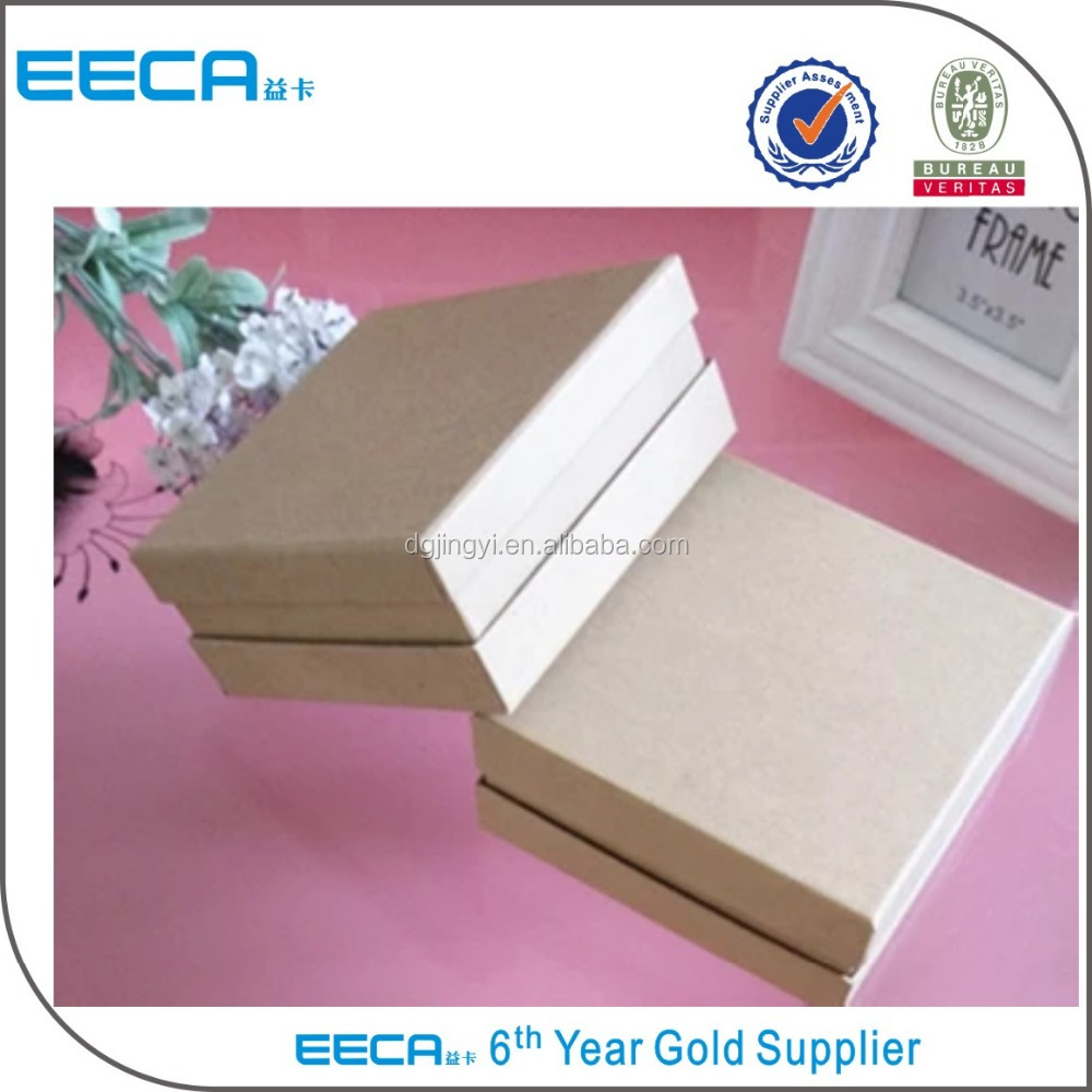 square handmade recycled kraft paper gift boxes/storage cardboard boxes