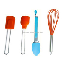 Non-stick Kitchen Tools Stainless Steel handle with silicone cooking tools set