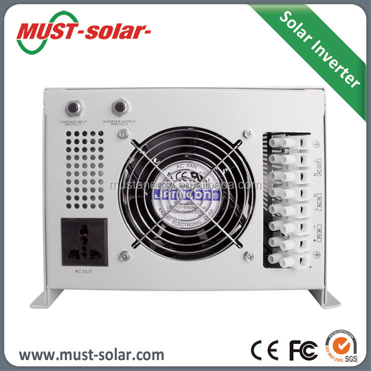 <Must Solar>240v dc ac inverter to 240v solar 12vdc to 220vac 1000w inverter solar inverter with built-in charge controller