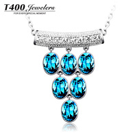 T400 Fashion Jewelry, 925 Sterling Silver Pendant Necklace, Made With Swarovski Elemennts #1582