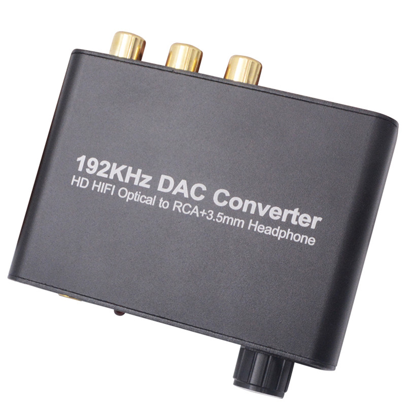 3:1 Digital Optical Audio Selector w Analog Stereo RCA Dolby Decoder Converter