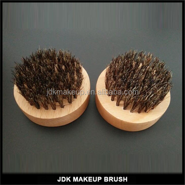 Premium Beard Brush for Men Round Wooden Handle Natural Wild Boar Bristle Bristles Men Grooming Tool Helps Softening