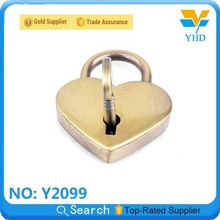 factory price heart shape custom metal handbag lock