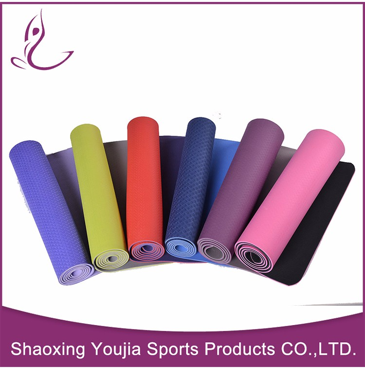 Logo printed fancy high resilient yoga mat 8mm thick