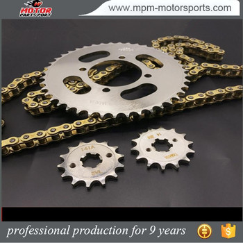 Motorcross parts Chain sprocket kits for Brazil market cg125