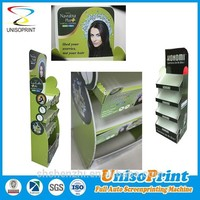 New design E-paper Display Coroplast Sign Floor Stand Display Clear Plastic Display Stand