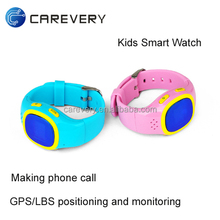 GPS kids tracker watch with sim card slot, kids smart watch with SOS, kids talking wrist watch mobile phone