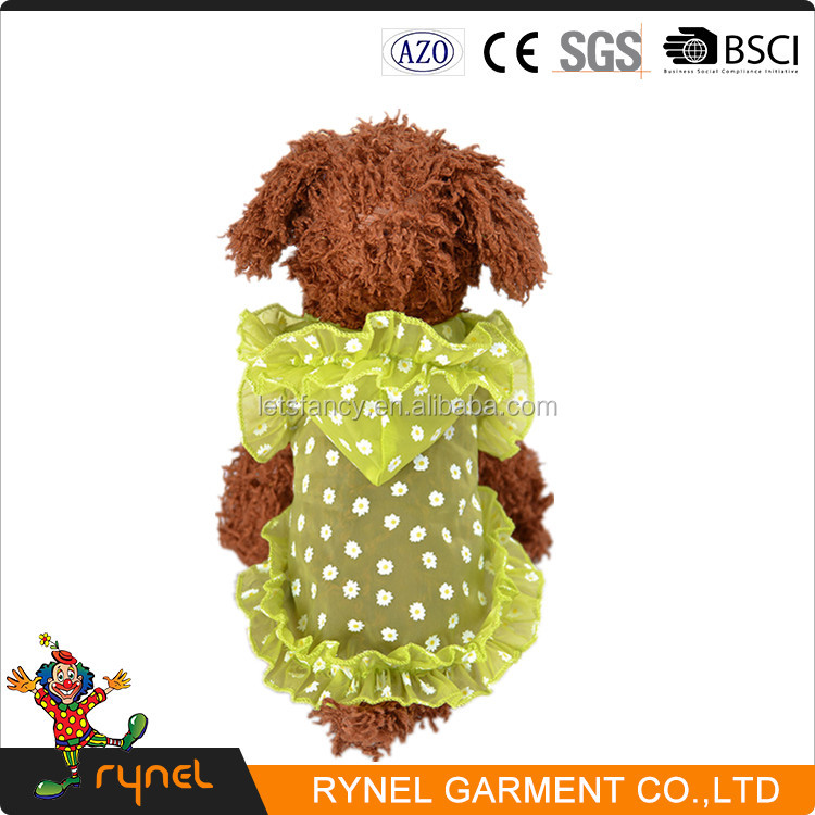 Summer New Design Pet Dog Acrylic Knitted Pattern Pet Vest Sunscreen Pet Dog Clothes
