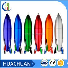 mini 4 color rocket ball pen for kids