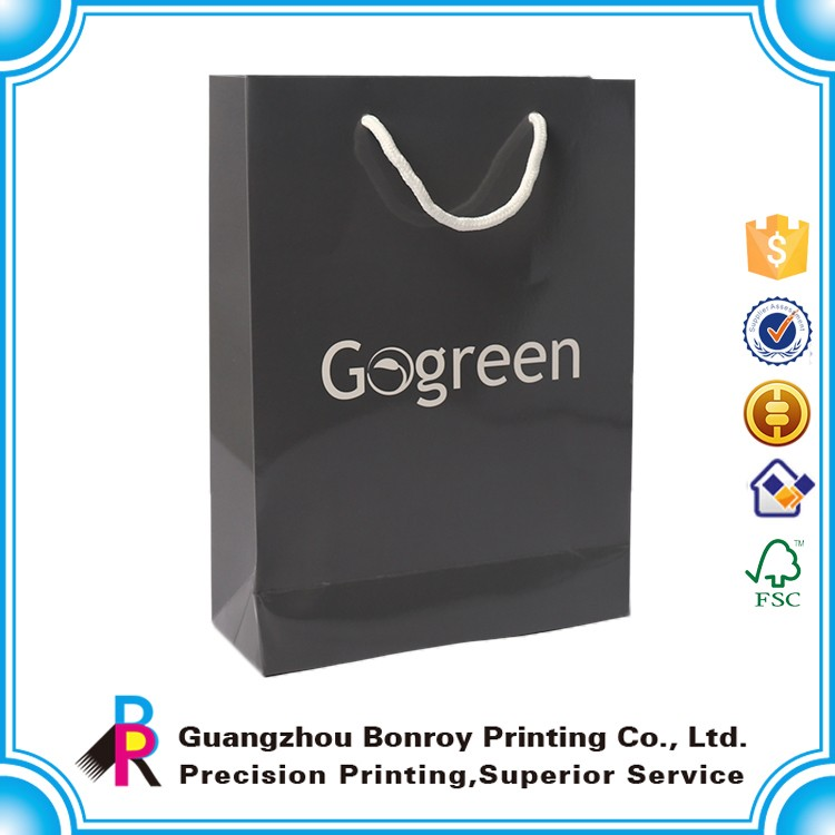 C1S art paper custom cheap paper bags with logo