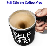 Automatic Electric Stirring Coffee Mug, Double Layer Stainless Steel Self Stirring Auto Coffee Mugs Self Mixing Cup for Morning