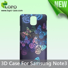 Wholesale sublimation 3D case for Samsung Galaxy Note3