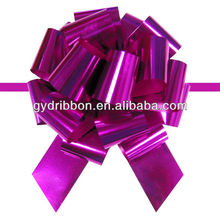 2016 Strong Purple Poly Ribbon Pull String Bows for Gift Packing/Cake packing/company's celebration streamers