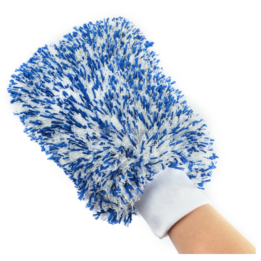 High Quality No Harm to Car Lacquer Lint Free Super Soft High Absorbent Multipurpose Deluxe Microfiber Car Washing Mitt