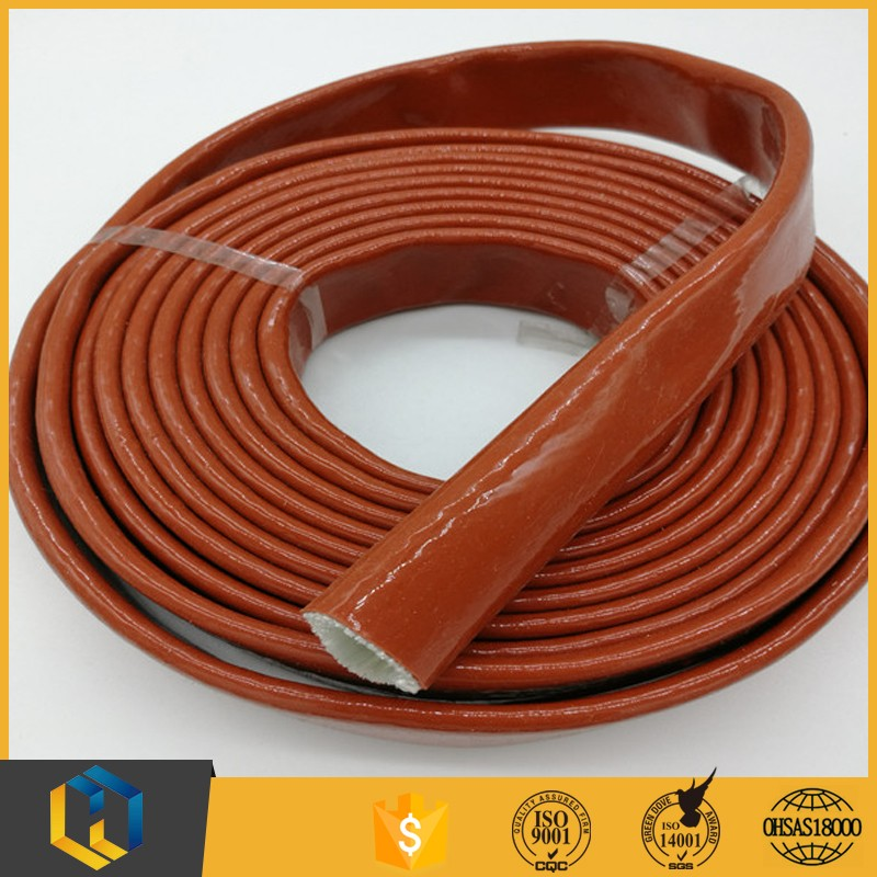 Superior quality high temperature fire proof silicone fiberglass sleeve for wholesales