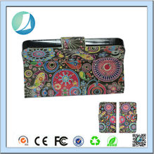 Retro style Stand Flip Flowers colorful leather wallet case for iphone 4
