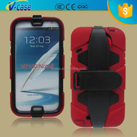 2015 Hot Military Hybrid Silicone & PC Shell Shockproof Heavy Duty Stand Case Cover With Belt Clip For Samsung Galaxy Note 2