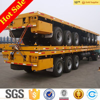 3 axle 20ft/40ft flat bed container semi trailer for sale