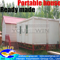 ready made garden prefabricated steel frame house sandwich panel portable house
