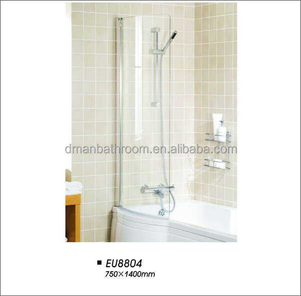 Folding round profile bath screen/shower door EU8804