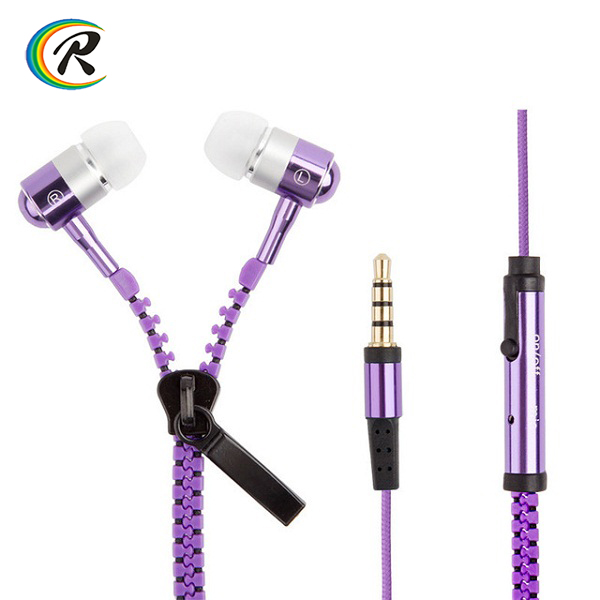 Factory Price headphones for Samsung earphones zipper earphone