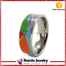 Hot Sale Yoga Jewellery Custom 316 Stainless Steel 0 Ring