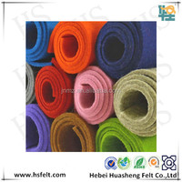 colorful nonwoven wool felt