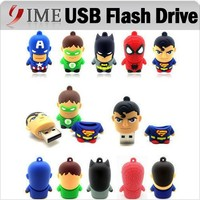 Real Capacity! Hot Usb Pen Drive America Captain Superman Spiderman Batman Green Lantern USB Flash Drive 4G 8gb 16g 32g Pendrive