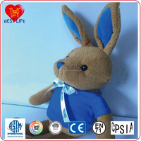 Blue T-shirt rabbit doll soft plush bunny toys (PTAL0816212)