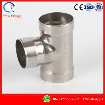 socket weld tee equal stainless steel from 15mm to 108mm