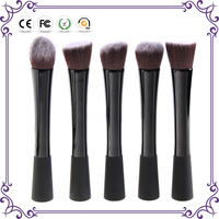 5PCS Kabuki Brush Set Black Orange