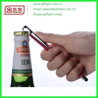 Various color Metal Stylus Multifunction Pen With bottle Opener screwdriver