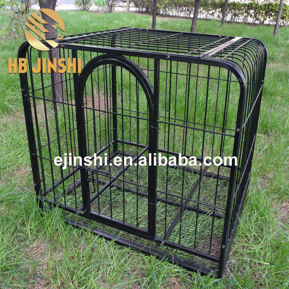 "Folding Metal Pet Dog Cat Crate Cage Kennel W/Plastic Tray W/Divider 42""/36""/24"""