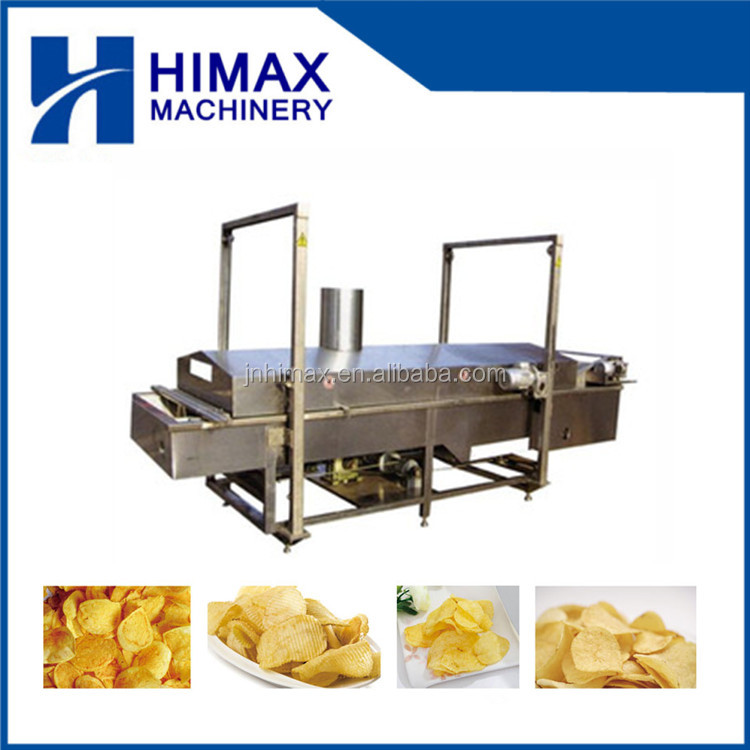 automatic french fries potato chips frying machine
