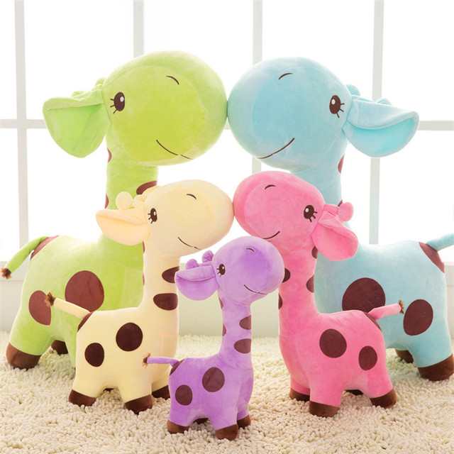 funny smart Mini smiling giraffes deer plush toy
