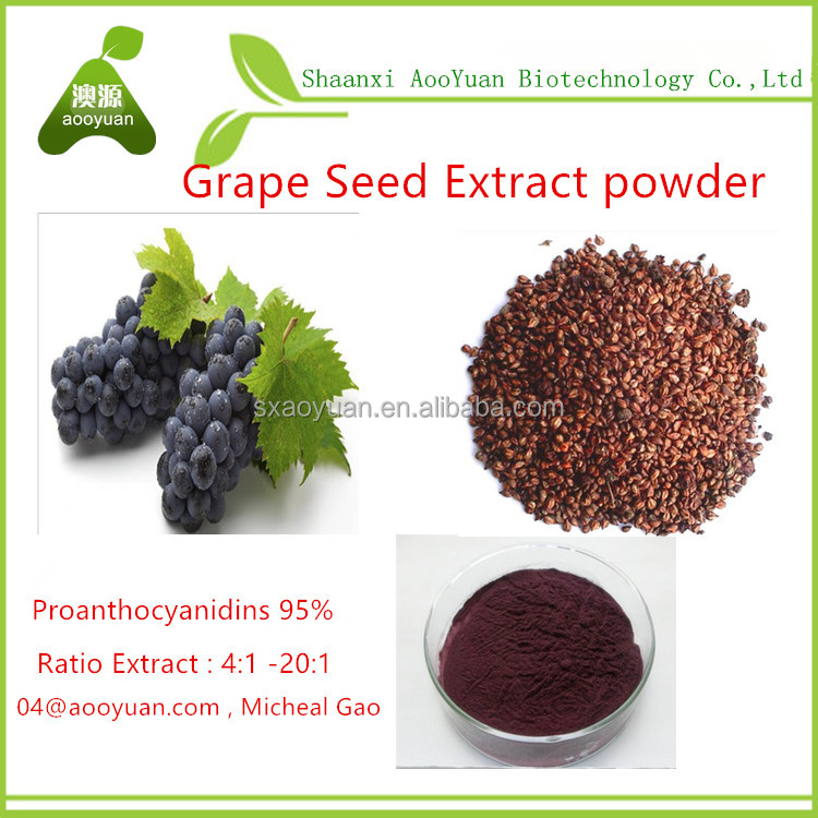 Grape Seed Extract powder ratio extract 4:1 , 5:1 , 10:1, 20:1