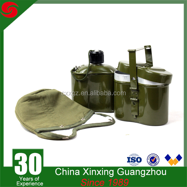 Outdoor army use aluminum water bottle canteen