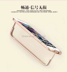 Metallic Aluminum Bumper Frame holster Phone Stand Case Cover for iPhone 6 4.7""