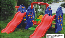 Hot sale children plastic slide and swing
