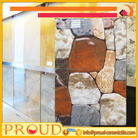 250x400mm Dark Stone Like Rubble Inkjet Ceramic Wall Tile