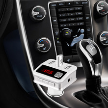 FM Transmitter Bluetooth with 3 usb car chargers output 5V/5.1A