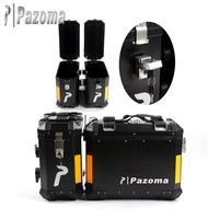 Hot Sale Universal Motorcycle Side box 46cmx43cmx21cm Aluminum Side Case Black Pannier Bags Pazoma Logo Side Box