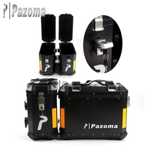 Hot Selling Pazoma High Quality Aluminum Black Motorcycle Side Box 46cmx43cmx21cm For Superbike