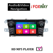 Android 4.4 car dvd player with gps navigation toyota with free Mirro-link &Airplay