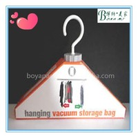 Industrial hanging vacuum storage bags for long clothes