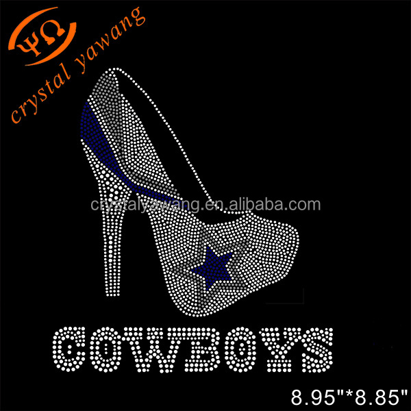 custom hotfix rhinestone transfer dalla cowboys wholesale