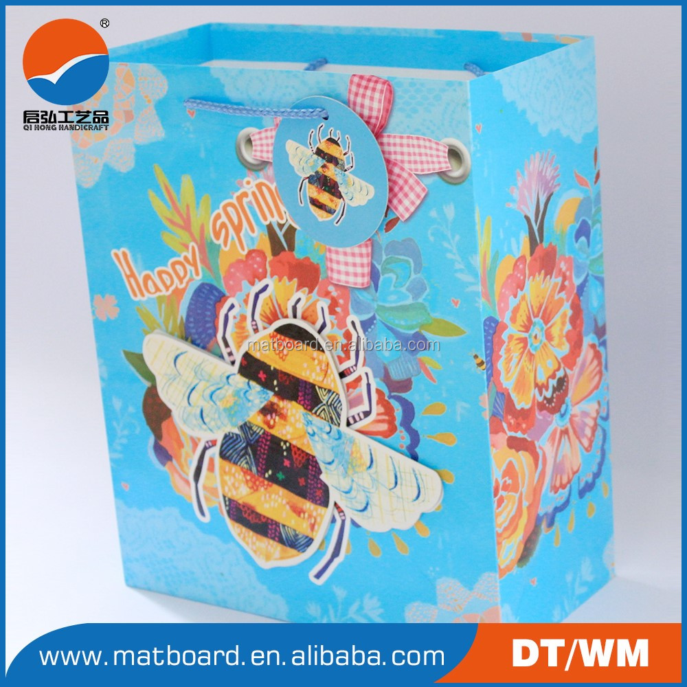 Ivory board paper bag Coated paper paper shopping bag Duplex board with grey back Duplex board with grey back