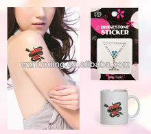 rhinestone adhesive tattoos sticker safe for skin