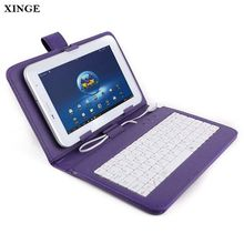 Wholesale Micro 6,7,8,9 Inch Universal Pu Leather Keyboard Tablet Case